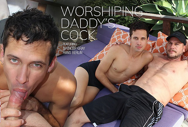 Worshiping Daddy's Cock